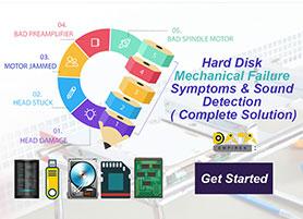 hard disk mechanical problem sound detection